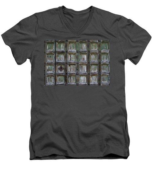 Locked Door Men's V-Neck T-Shirt by Ron Harpham