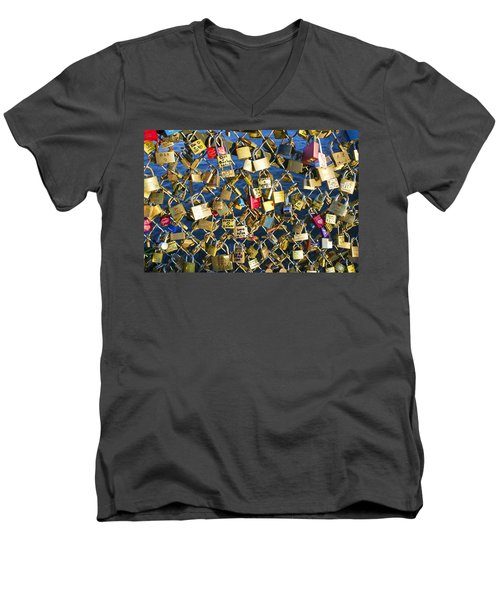 Men's V-Neck T-Shirt featuring the photograph Locks Of Love by Hugh Smith