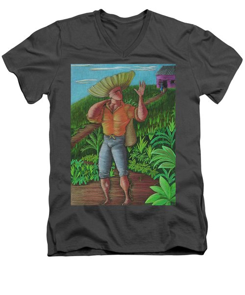 Loco De Contento Men's V-Neck T-Shirt