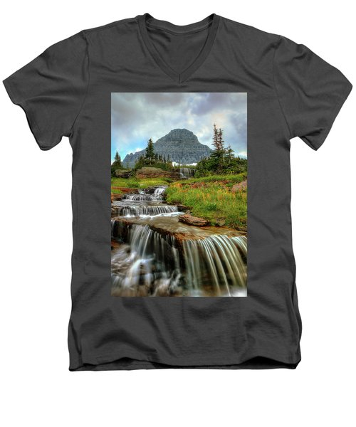 Logan Cascades Men's V-Neck T-Shirt