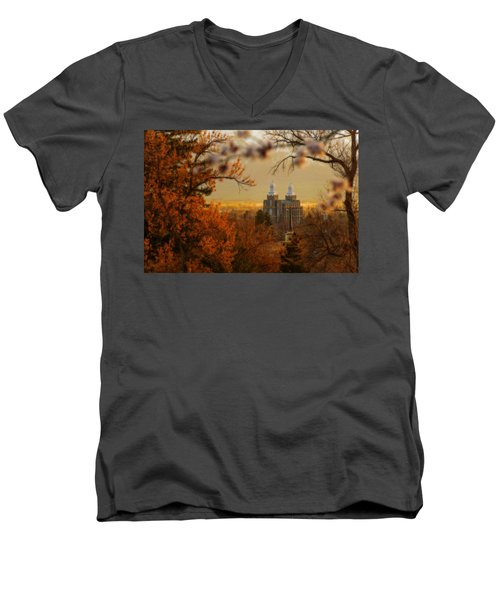 Logan Temple Men's V-Neck T-Shirt