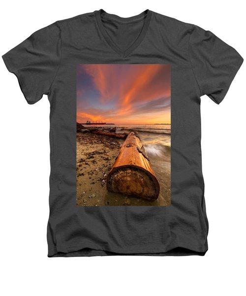 Login To Nature Men's V-Neck T-Shirt