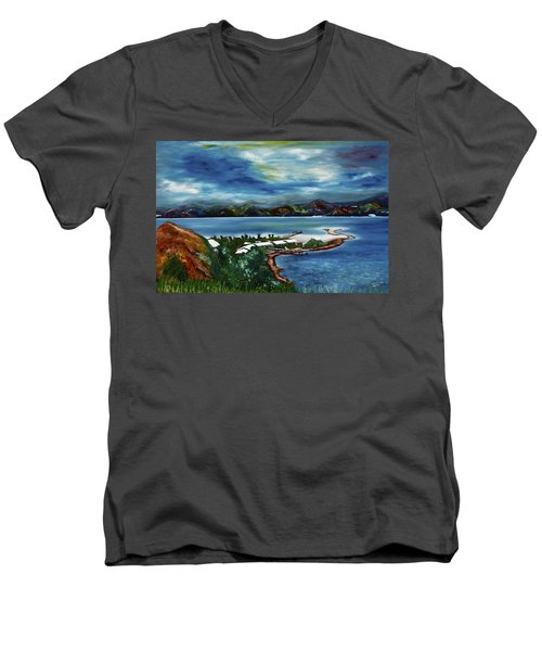 Loloata Island Men's V-Neck T-Shirt