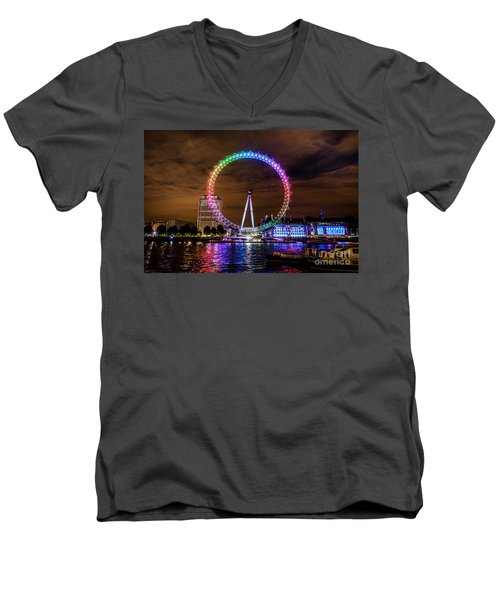 London Eye Pride Men's V-Neck T-Shirt