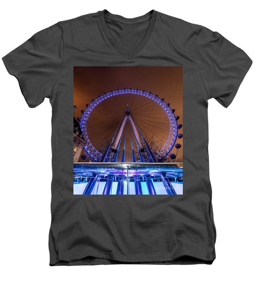 London Eye Supports Men's V-Neck T-Shirt