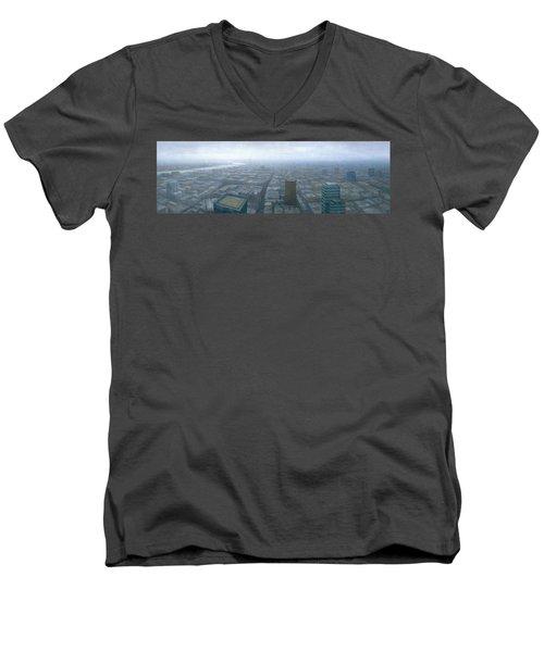 London Skyline Cityscape Men's V-Neck T-Shirt