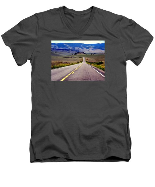 Lonely Road Men's V-Neck T-Shirt by Antonia Citrino