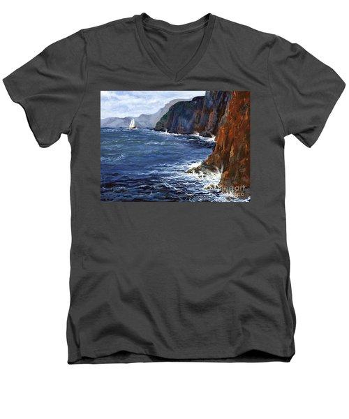 Lonely Schooner Men's V-Neck T-Shirt