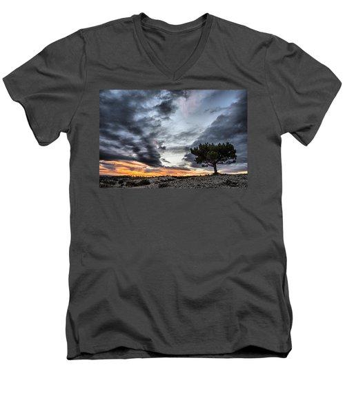 Lonely Tree Men's V-Neck T-Shirt