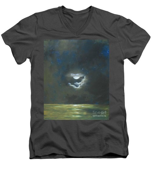 Long Journey Home Men's V-Neck T-Shirt by Marlene Book