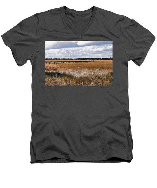 Long Marsh Dock Men's V-Neck T-Shirt