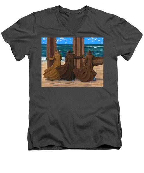 A Long Ride West Men's V-Neck T-Shirt