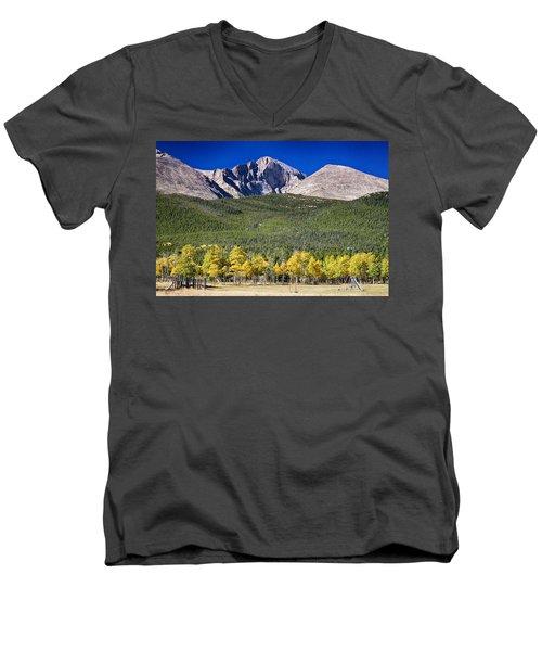 Longs Peak A Colorado Playground Men's V-Neck T-Shirt