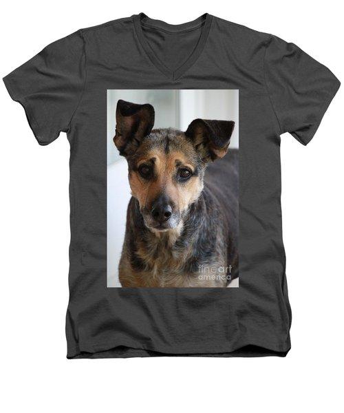 Look In To Her Big Brown Eyes Men's V-Neck T-Shirt