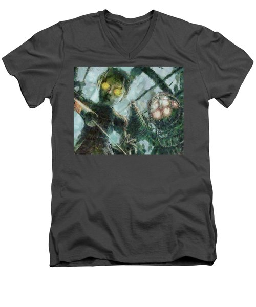 Look Mr Bubbles An Angel Men's V-Neck T-Shirt