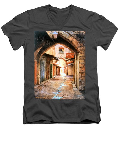 Look Who Is Coming Men's V-Neck T-Shirt