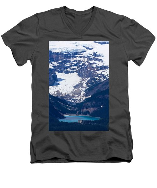 Looking Down At Lake Louise #2 Men's V-Neck T-Shirt