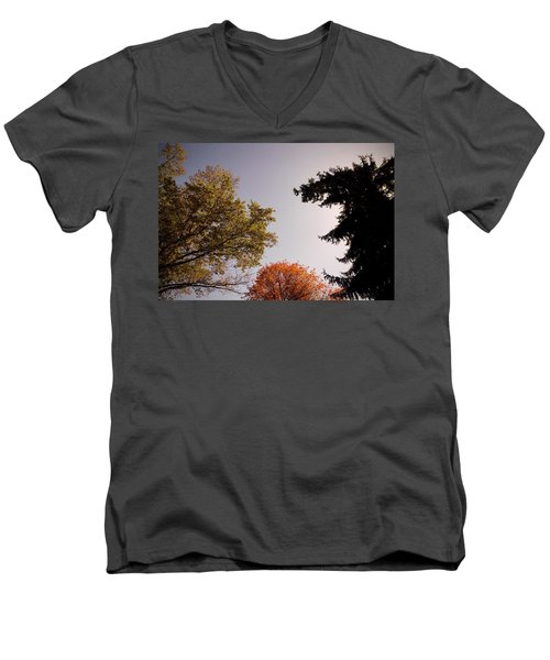 Men's V-Neck T-Shirt featuring the photograph Looking Down On Us by Photographic Arts And Design Studio