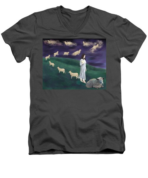 Looking For Sleep Men's V-Neck T-Shirt