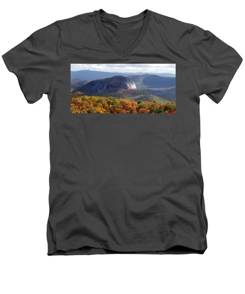 Looking Glass Rock And Fall Folage Men's V-Neck T-Shirt