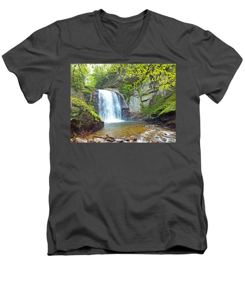 Looking Glass Waterfall In The Spring 2 Men's V-Neck T-Shirt