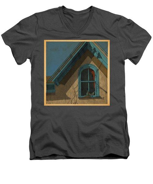 Looking In Men's V-Neck T-Shirt