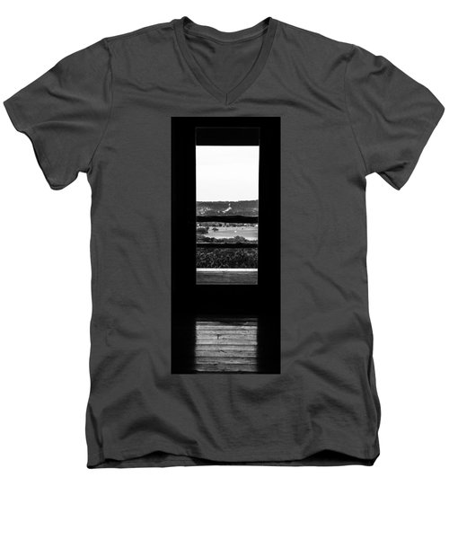 Looking Out A Country Door. Men's V-Neck T-Shirt