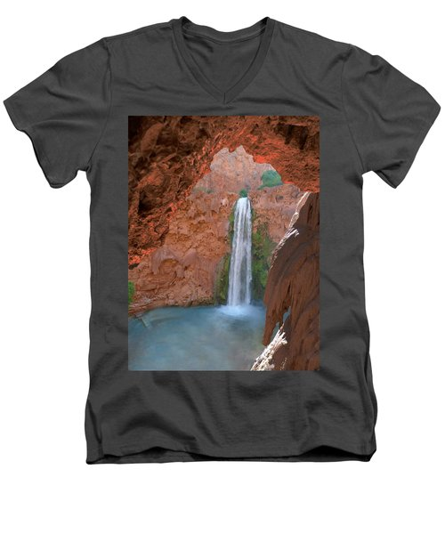 Looking Out From The Cave Men's V-Neck T-Shirt by Alan Socolik