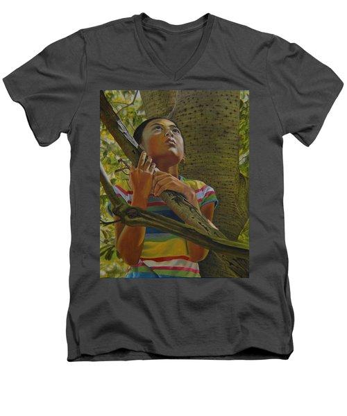 Looking Up Men's V-Neck T-Shirt