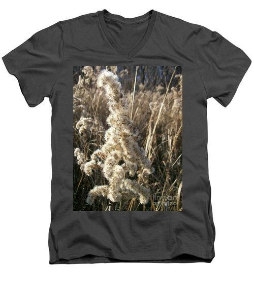 Men's V-Neck T-Shirt featuring the photograph Looks Like Cotton by Sara  Raber