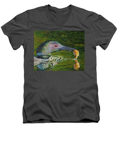 Loon Lunch Men's V-Neck T-Shirt