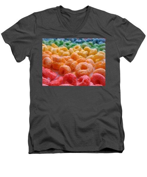 Loops Men's V-Neck T-Shirt by Joseph Skompski