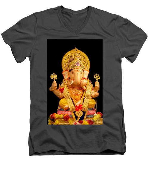 Lord Ganesha Men's V-Neck T-Shirt