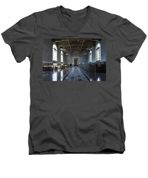 Los Angeles Union Station - Custom Men's V-Neck T-Shirt