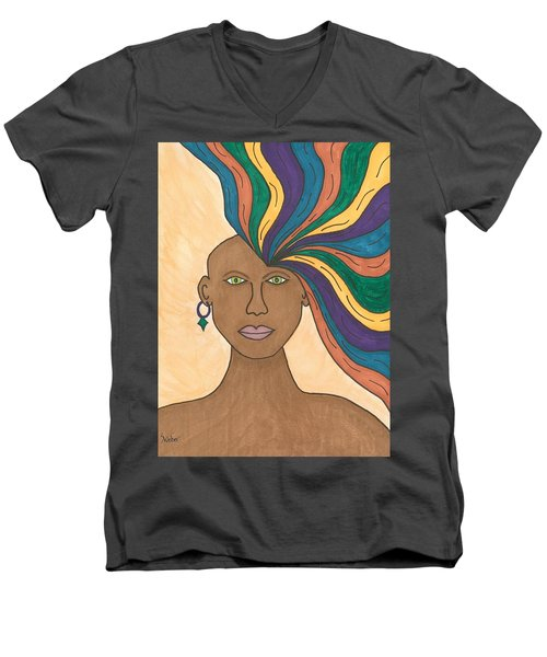 Losing My Mind Men's V-Neck T-Shirt by Susie Weber