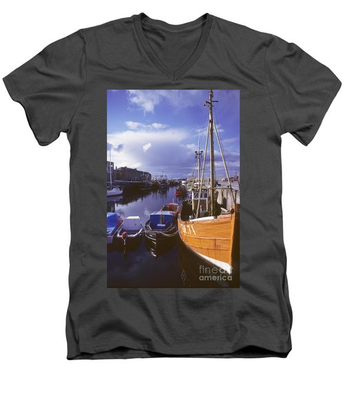 Lossiemouth Harbour - Scotland Men's V-Neck T-Shirt by Phil Banks