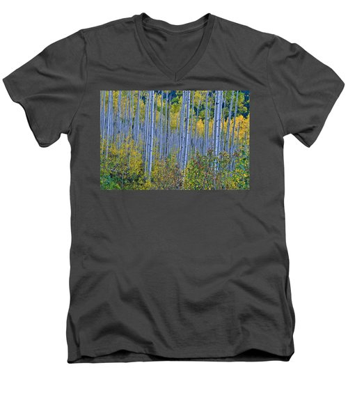 Men's V-Neck T-Shirt featuring the photograph Lost In The Crowd by Jeremy Rhoades