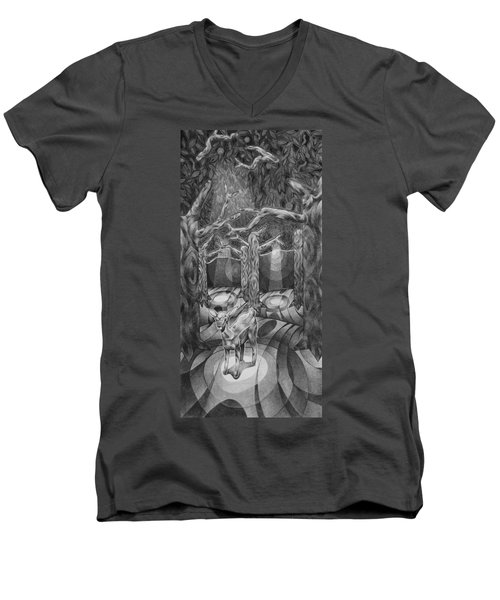 Lost In The Woods Men's V-Neck T-Shirt