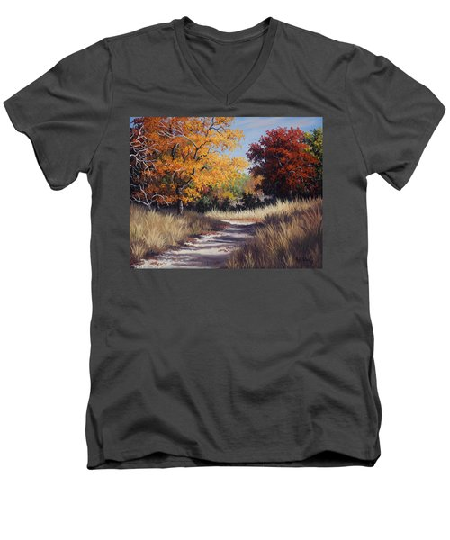 Lost Maples Trail Men's V-Neck T-Shirt