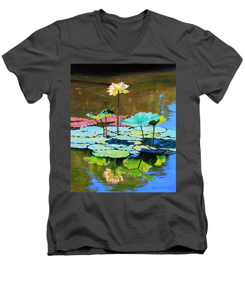 Lotus Above The Lily Pads Men's V-Neck T-Shirt