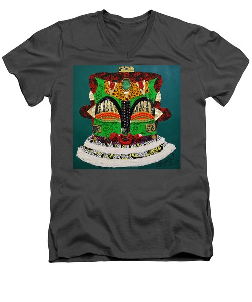 Lotus Warrior Men's V-Neck T-Shirt