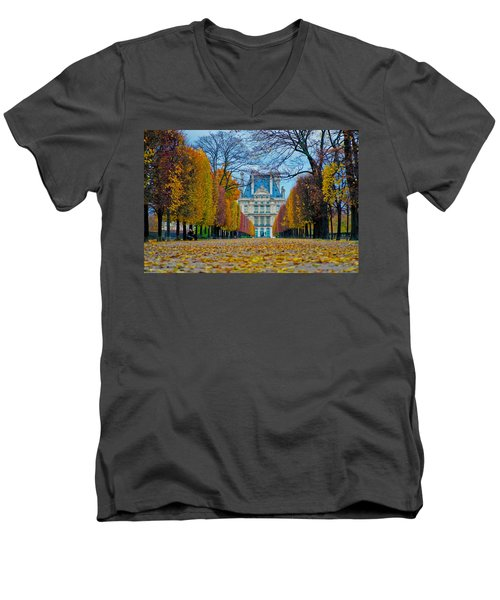 Louvre In Fall Men's V-Neck T-Shirt