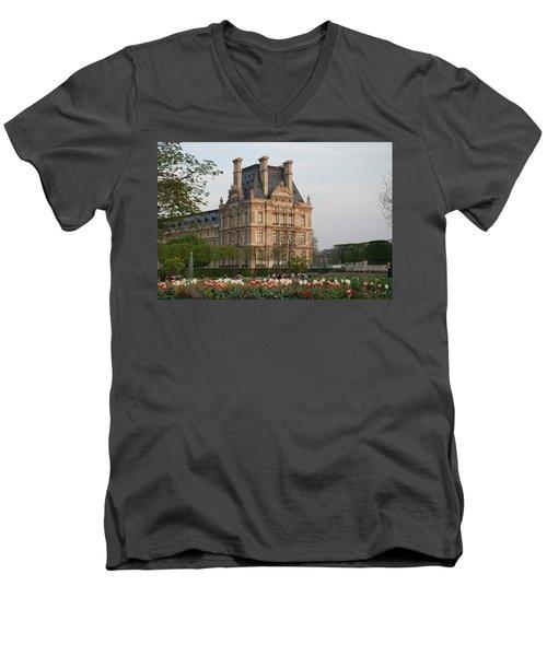 Louvre Museum Men's V-Neck T-Shirt