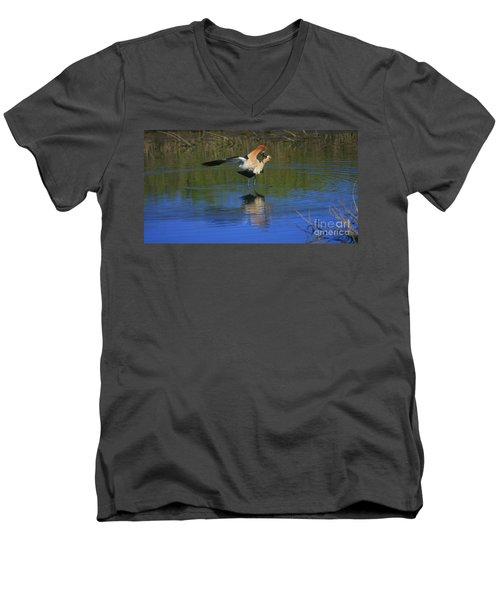Men's V-Neck T-Shirt featuring the photograph  Courtship Cross by John F Tsumas