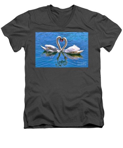 Love For Lauren On Lake Eola By Diana Sainz Men's V-Neck T-Shirt