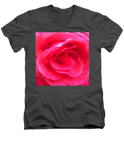 Love In Full Bloom - Anniversary Rose Men's V-Neck T-Shirt