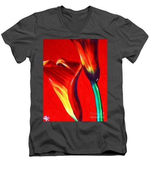 Love Lilies Men's V-Neck T-Shirt