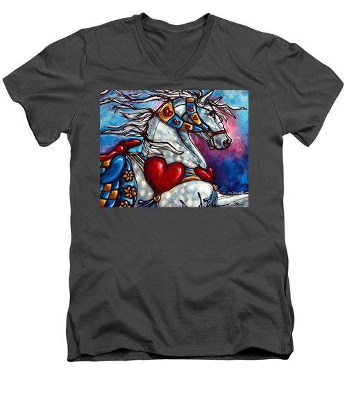 Love Makes The World Go Round Men's V-Neck T-Shirt