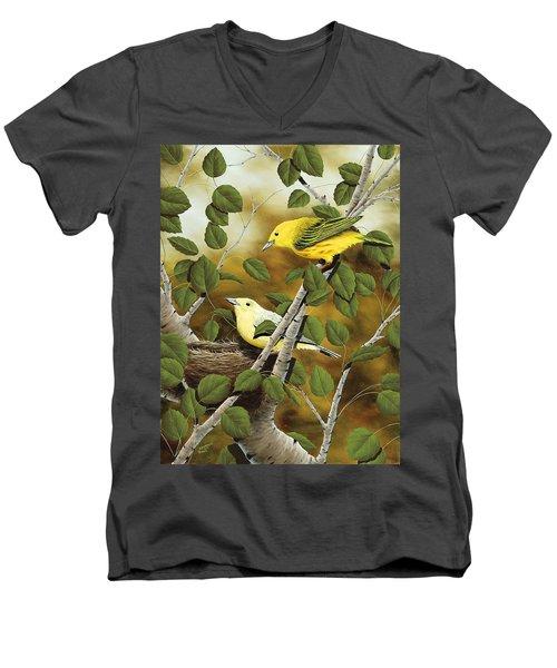 Love Nest Men's V-Neck T-Shirt by Rick Bainbridge