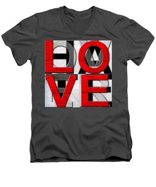 Love Over Hate Men's V-Neck T-Shirt